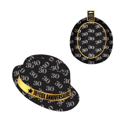 chapeau-borsalino-anniversaire-age-noir | jourdefete.com