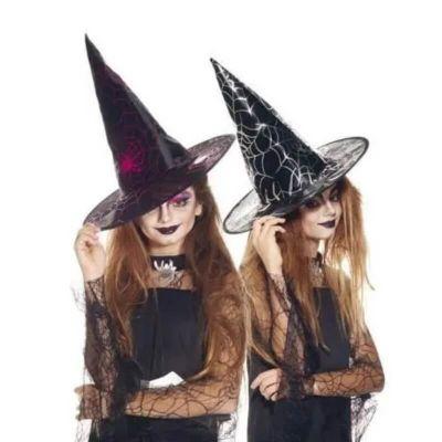 chapeau de sorciere enfant avec toile d araignee | jourdefete.com