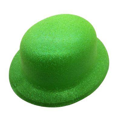 Chapeau Melon Pailleté - Vert Fluo