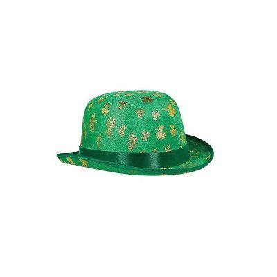 Chapeau Melon Trèfles Dorés Saint Patrick