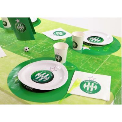 chemin de table terrain de foot décoration football