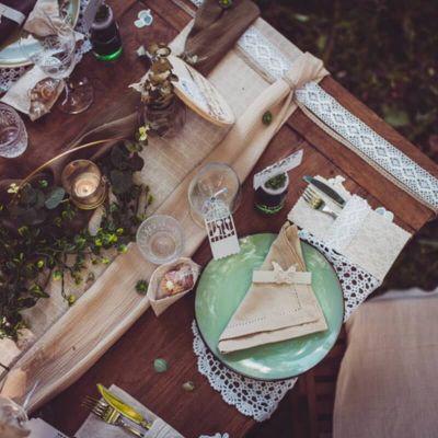 chemin-de-table-lin-ajoure-mariage | jourdefete.com