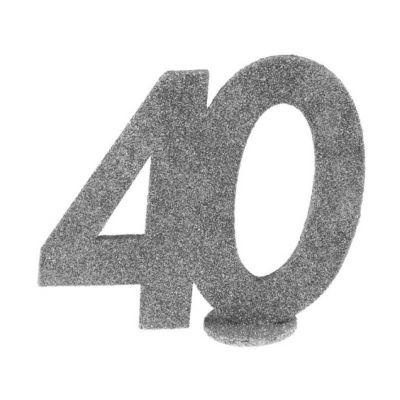 chiffre anniversaire age au choix paillettes argent   jourdefete.com