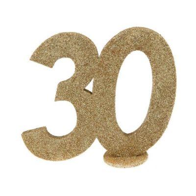 chiffre anniversaire age au choix paillettes or | jourdefete.com