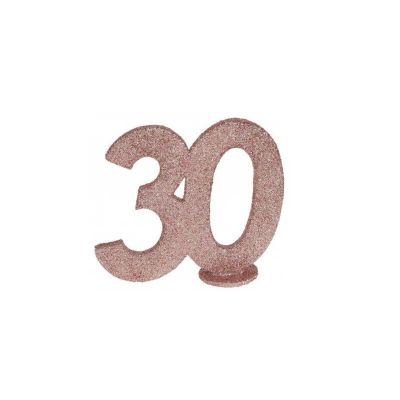 chiffre anniversaire paillettes rose gold age au choix   jourdefete.com