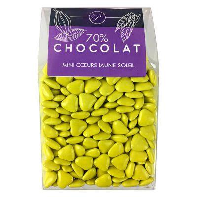 Dragées Mini Coeurs Chocolat 500 gr – Jaune
