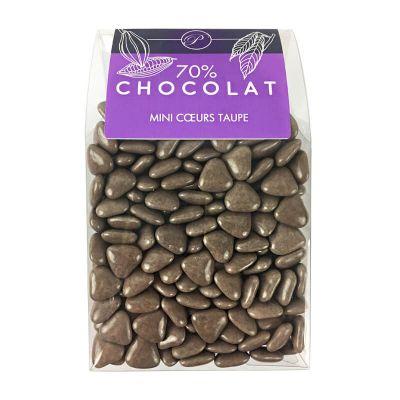 Dragées Mini Coeurs Chocolat 500 gr – Taupe
