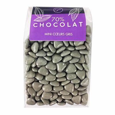 Dragées Mini Coeurs Chocolat 500 gr – Gris