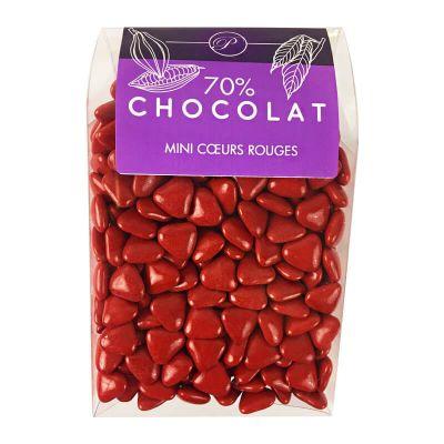 Dragées Mini Coeurs Chocolat 500 gr – Rouge