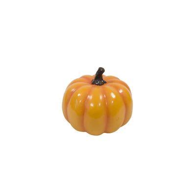 citrouille décorative en résine de 12,5 cm couleur orange | jourdefete.com