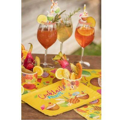 5 Plateaux en Carton - Cocktail Tropical | jourdefete.com