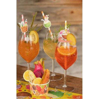 10 Ramequins en Carton - Cocktail Tropical | jourdefete.com