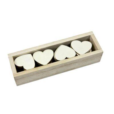 48 cœurs en bois naturel   jourdefete.com