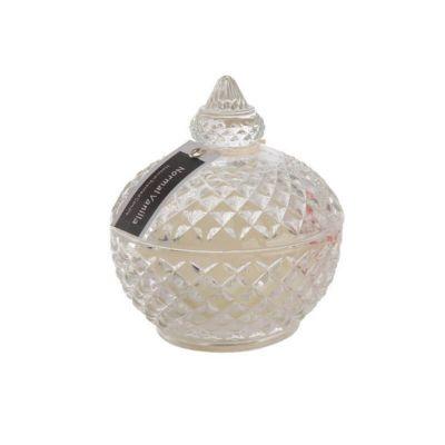 Bougie a Couvercle en Verre  - Parfum Vanille   jourdefete.com