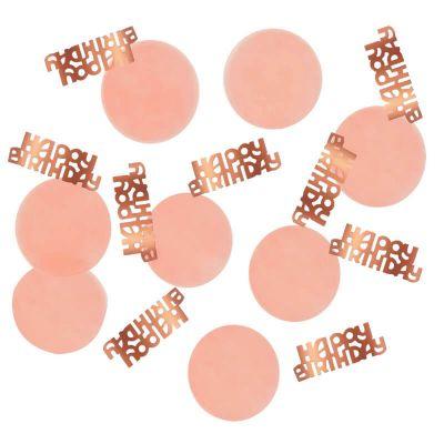 confettis de table blush et rose gold pour anniversaire | jourdefete.com