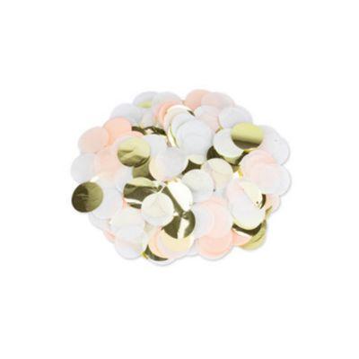 Gros Confettis - Pêche, Blanc et Or   jourdefete.com