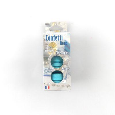 Confettis ronds bleu ciel