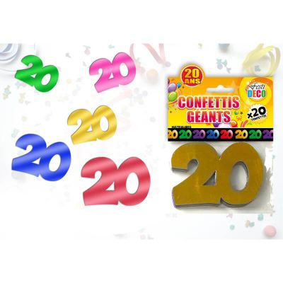 Sachet de confettis géants 20 ans