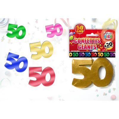 Sachet de confettis géants 50 ans