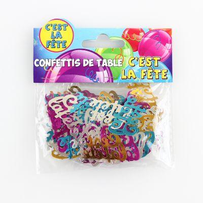 Confettis de table multicolores C'est la Fête !