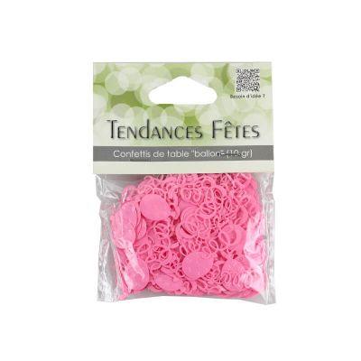 Confettis de table serpentins et ballons - rose