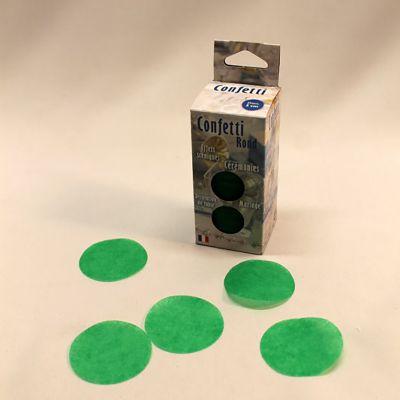Confettis ronds vert pomme