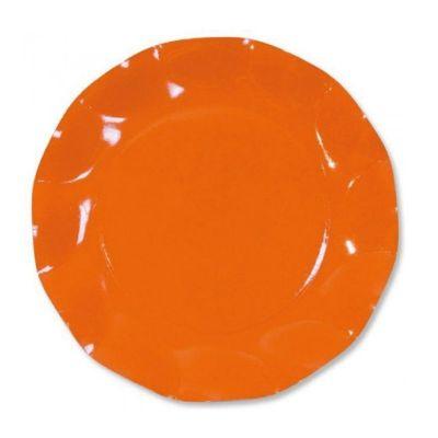 10 Coupelles Vagues en Carton - Orange