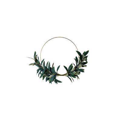 couronne-olivier-decoration-evenement-salle-table-metal-vegetal   jourdefete.com
