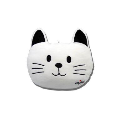 coussin en forme de chat noir ou blanc | jourdefete.com