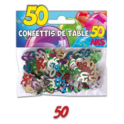 Confettis de table anniversaire 50 ans