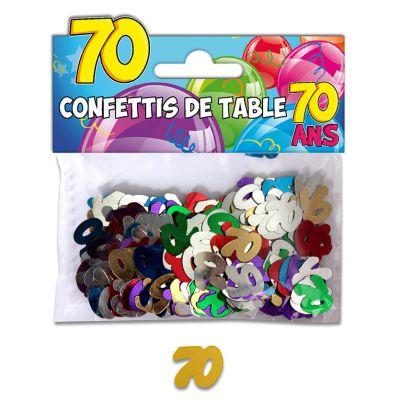Confettis de table anniversaire 70 ans