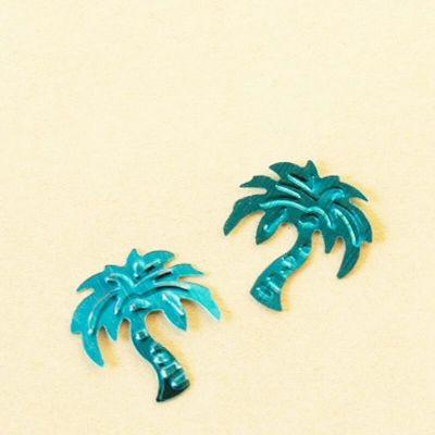 Sachet de Confettis de table Palmiers - Bleu Turquoise
