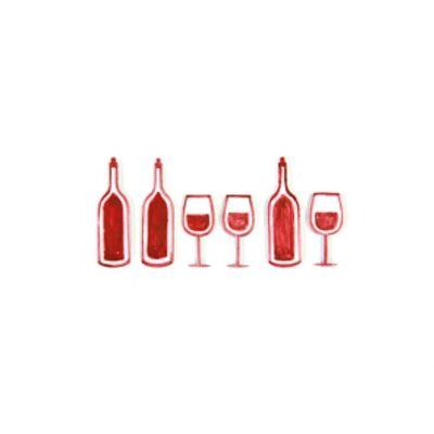 Sachet de 6 Confettis de Table - Thème du vin