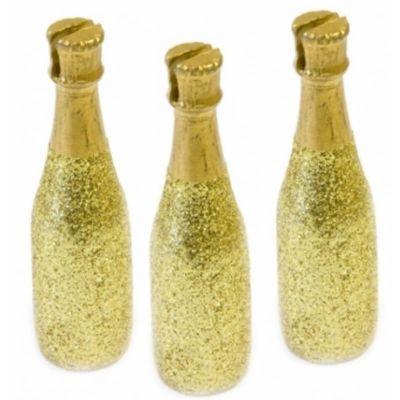 Sachet de 3 Marque-Places de Champagne - Or