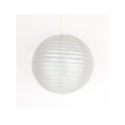 Lanterne Japonaise en Papier Argent - 35 cm