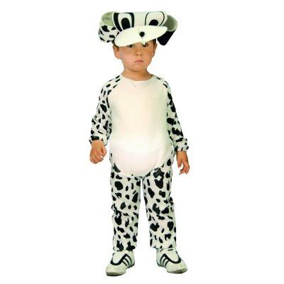Costume en peluche de chien dalmatien pour enfant