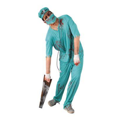 deguisement chirurgien zombie taille au choix | jourdefete.com
