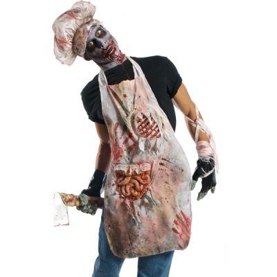 Tablier Halloween adulte de zombie boucher
