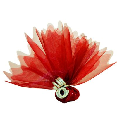 """Tulle """"Cristal"""" x10 - Rouge"""