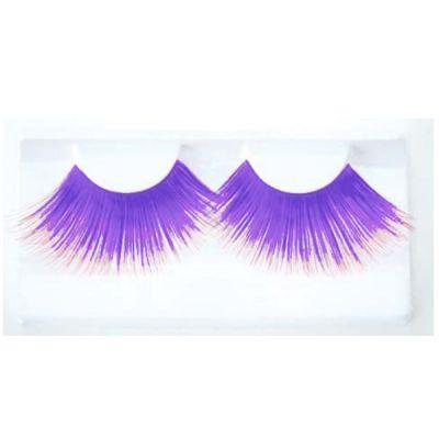 Faux cils violet bleuté