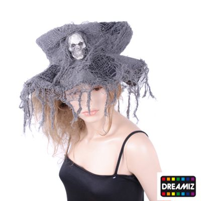 Chapeau Halloween Haut de Forme Argenté