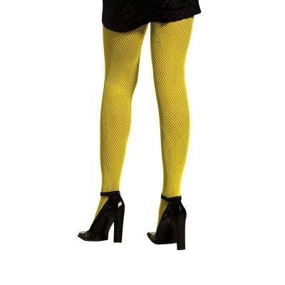 Collants Résille Néon Jaune - Taille Unique