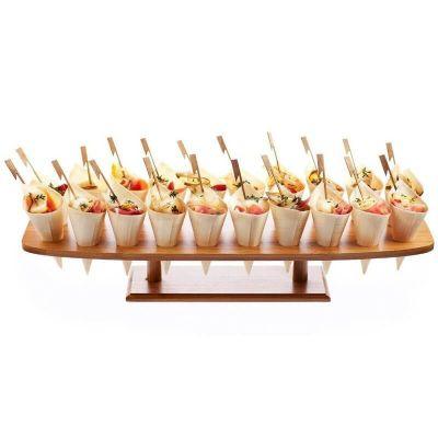 plateau de présentation en bambou à 20 trous et de 85 cm | jourdefete.com