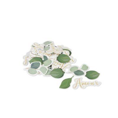100 Confettis en Carton - Amour - Collection Eucalyptus | jourdefete.com