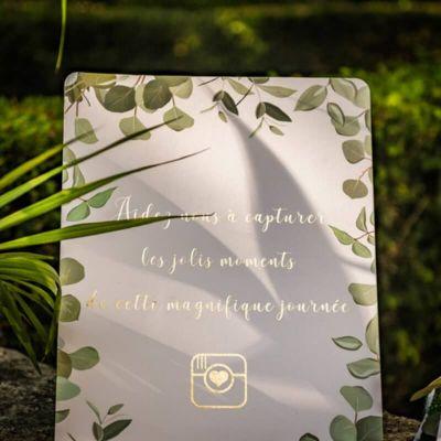 Panneau Instagram - Collection Eucalyptus | jourdefete.com
