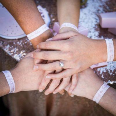8 Bracelets - EVJF de Folie - Rose Gold   jourdefete.com