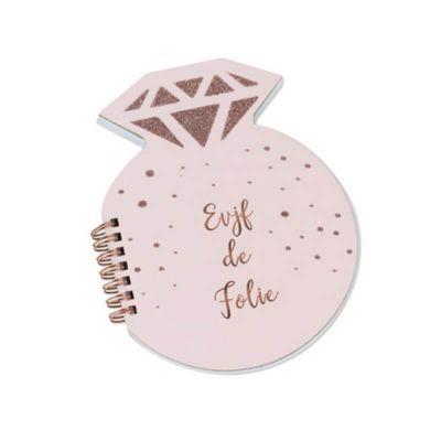 Carnet Diamant - EVJF de Folie - Rose Gold   jourdefete.com