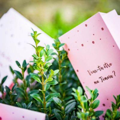 2 Cartes à Gratter - Veux tu être ma témoin - Rose Gold | jourdefete.com
