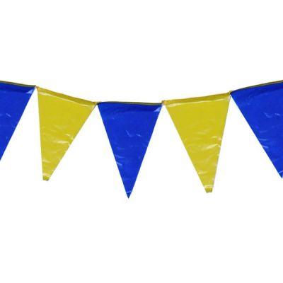 fanions jaune et bleus