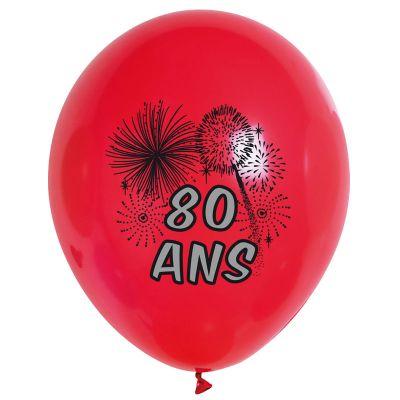 Ballons de Baudruche Anniversaire 80 ans